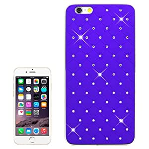 Bling Diamond Plating Skinning Plastic Case for iPhone 6(Purple)