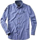 N.Z.A. Herren Hemd Baumwolle Freizeit-Hemd Gemustert, Größe: XL, Farbe: Blau