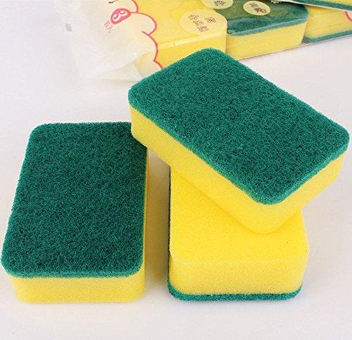 EQLEF® 3er-Pack Küche Scheuer Nano Super-Dekontamination Sponge dishrag Doppelfunktion...