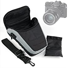 DURAGADGET Bandolera Para Cámaras Ckeyin® 1080P | Canon EOS 700D BODY | Olympus E-M10 Mark II - Correa Ajustable - Negra Y Gris