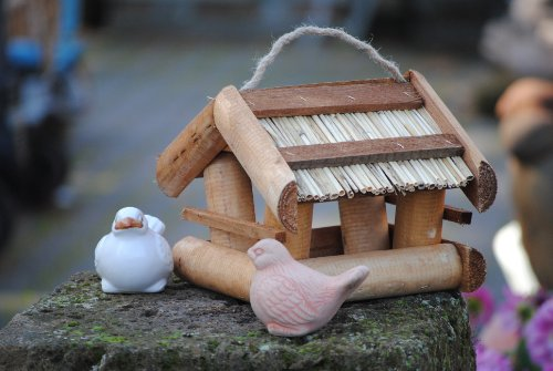 Vogelhaus zum Hängen aus Holz,M.663