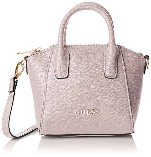 guess-damen-isabeau-mini-satchel-henkeltasche-rosa-rose-taglia-unica