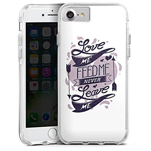 Apple iPhone 6s Bumper Hülle Bumper Case Glitzer Hülle Amour Liebe Love Bumper Case transparent