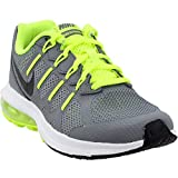 Nike Kids Air Max Dynasty Running Shoes-CoolGrey/Black-White-Volt-5