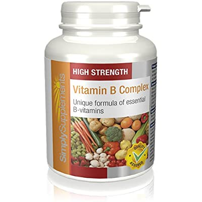 Vitamin B Complex Tablets | High Strength Premium Formulation Includes All 8 B Vitamins, including Biotin & Folic Acid | Supports Brain Function & Energy Levels | 360 Tablets | Manufactured in the UK from Simply Supplements