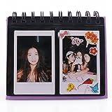 #10: [Fujifilm Instax Mini Photo Album] DEAHUN 68 Pockets Desk Calendar Style Photo Album For Fujifilm Instax Mini 7s 8 25 50s 70 90/ Polaroid Z2300/ Polaroid PIC-300P/ Polaroid Snap Films (Purple)