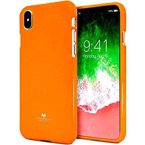 Mooya Fantasie Fluoreszenz 【erstaunlich】 [glänzend] Jelly iPhone XS MAX [Komfortabel] [heiße Farbe] Silky TPU Rubber Case [Dünn und leicht] Cover für (iPhone XS MAX, Orange) (Erstaunliche Fantasie)