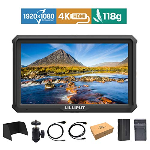 Lilliput A5 5 Zoll 1920x1080 HD 441ppi IPS Kamera Feld Monitor 4K HDMI Input Output Video DSLR feldmonitor für A7 A7R A7S III A9 DSLR Zhiyun Crane 2 M TILTA G2X Ronin-S + Batterie