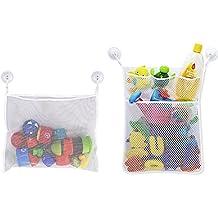 GreeSuit Kids Baby Bath Toy organizer mesh net Storage Bag per bambine da appendere con 4?entose