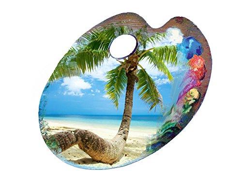 GRAZDesign 721143_57 Wandsticker Wandaufkleber Deko für Badezimmer Palme Strand Südsee Ideen (66x57cm)
