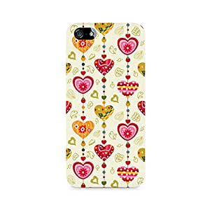 NXT GEN Hearts Premium Printed Mobile Back Case For Apple iPhone 5/5s