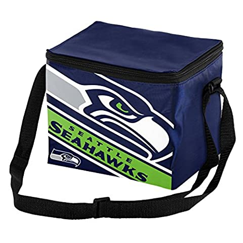NFL Seattle Seahawks Big Logo Stripe Cooler (6 Pack), One Size, Team Color