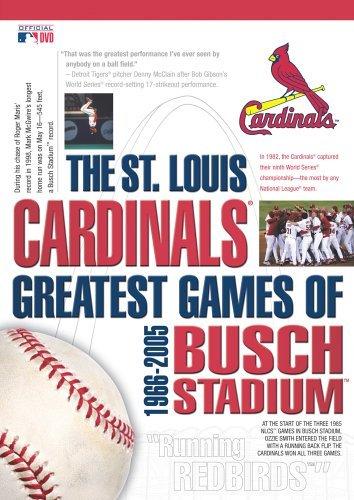 The St. Louis Cardinals - Greatest Games of Busch Stadium 1966-2005 by Bob Gibson Louis Cardinals Video