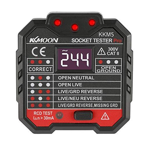 Roeam rilevatore di presa di corrente tester,socket tester digitale polarity neutro rcd, detector interruttori automatici a muro,cercafase circuiti elettrici