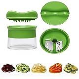 BBM Spiralschneider Hand für Gemüsespaghetti kartoffel, Zucchini, Spargelschäler,Gurkenschneider - 1 Jahr Garantie