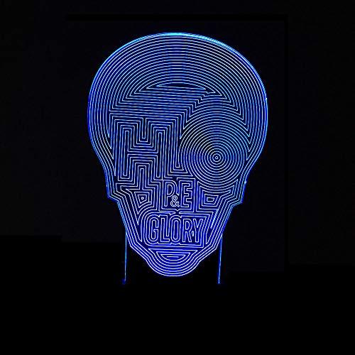3d lampen bunte touch 3d led nachtlicht maske usb tischlampe dekoration geschenke kinder spielzeug lichter