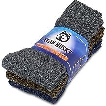 3pares super calientes térmica polar Husky Calcetines, perfecto para botas, color Thermo / Anthrazit/Braun/Jeans, tamaño 39/42