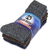 Polar Husky® 3 x EXTREM Wintersocken Farbe Thermo/Anthrazit/Braun/Jeans Größe 43/46