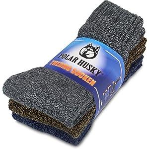 Polar Husky® 3 Paar Super warme Thermo Socken, perfekt geeignet für Stiefel