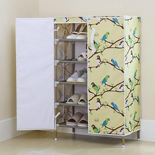 BSNOWF-Étagère à chaussures Cabinet de chaussure de stockage de stockage de capacité élevée de poussière de porte de chaussure de porte à deux battants