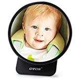ovos Asiento Trasero Espejo para Bebés rotura seguro de coche Espejo retrovisor para el asiento de bebé baby Espejo para Auto asiento ajustable sillitas Espejo Espejo de seguridad) negro negro