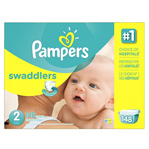 Swaddlers Diapers, Size 2: 12 - 18 Lbs, 148/carton by PAMPERS