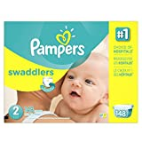 Pampers PGC86372CT Swaddlers Diapers, Size 2, 12 - 18 lbs, 148 Per Carton by Pampers