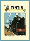 Vintage TINTIN Railway Adventure, Switzerland c1946 250gsm Gloss Art Card A3 Reproduction Poster