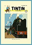 Vintage TINTIN Railway Adventure, Switzerland c1946 250gsm Gloss Art Card A3 Reproduction Poster by World of Art...