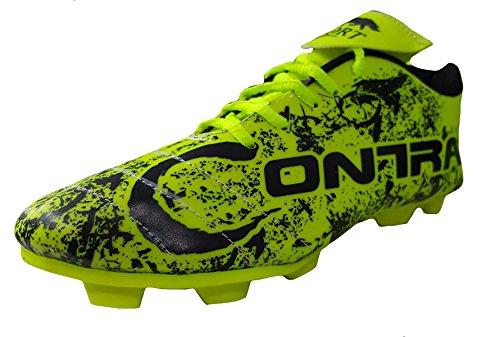 Port Unisex ALFA Green PU Football Shoes(8 Ind/Uk)