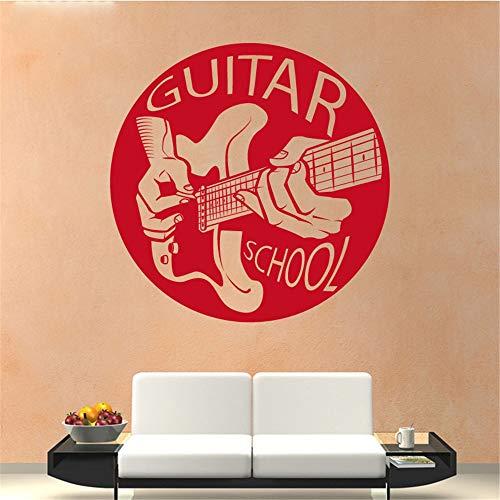 wandaufkleber 3d Wandtattoo Wohnzimmer Gitarrenschule Muster für Wohnzimmer Schlafzimmer
