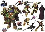 Unbekannt 13 tlg. Set: Wandtattoo / Sticker + Fensterbilder - Teenage Mutant Ninja Turtles - Wandsticker Aufkleber für Kinderzimmer - Jungen Hero Comic Schildkröten Kin..