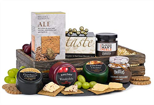 Gourmet Cheese Hamper - Savoury Basket - Perfect Gift for him or her - a Luxurious Family Feast