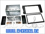 2 DIN Radioeinbauset Blende Radioanschlusskabel Antennenadapter Komplettset für Audi A6 Avant C5 4B Facelift 2001-2005 schwarz incl. Aktivsystemadapter