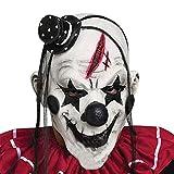 Di&Mi Killer Clown Cosplay Kostüm Maske für Karneval Fasching Fastnacht Party (Weiss)