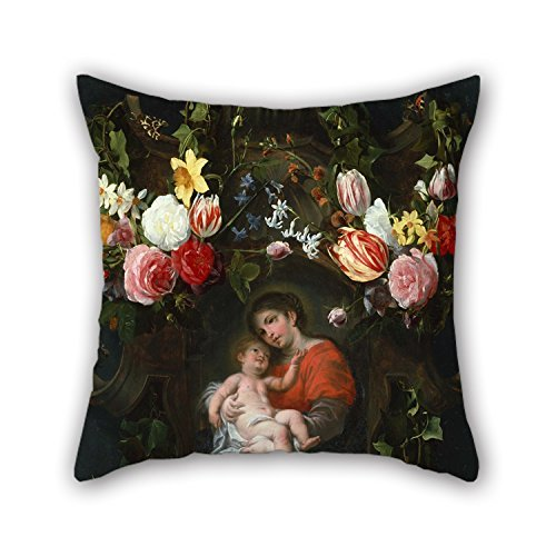 Neue Futons (beautifulseason Oil Painting Daniel Seghers - Garland of Flowers with Madonna and Child Pillow Cases 20 X 20 Inch/50 by 50 cm for Sofa,Husband,Kitchen,Kids Boys,Relatives,Divan with Twin Sides)