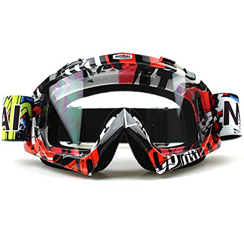 Motorradbrillen Crossbrille Schutzbrille Dirt Bike ATV Motocross Anti-UV Einstellbare Reiten Offroad Schutz Combat Tactical Military Brille Für Männer Frauen Kinder Jugend Erwachsene,B -