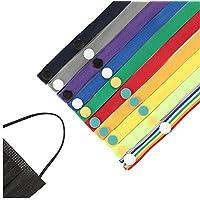 NIAGUOJI 20 Piezas Cordones de Cubierta de Cara, Ajustable Clips de Soporte de Babero, Cubierta Facial Portátil Cordón de Fijación Cordón de Sombrero de Pescador, Multicolor