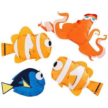 Disney Pixar - Le Monde de Dory - Dory Nemo Hank et Marin à Coudre Soi-Même - Mini Kit pour Couture
