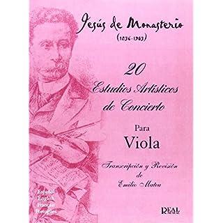 Jesús de Monasterio: 20 Estudios Artísticos de Concierto para Viola - Sheet Music