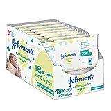 Johnson's Baby CottonTouch  Toallitas con Algodón Auténtico - 18 packs de 56 Toallitas - Total: 1008 Toallitas