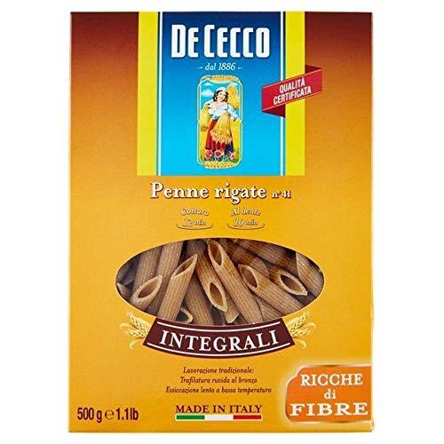 De Cecco Organic No. 41 Wholewheat Penne Rigate Pasta 500 g