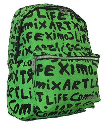 Zaino comix americano lettering cod. 302 (verde/nero)