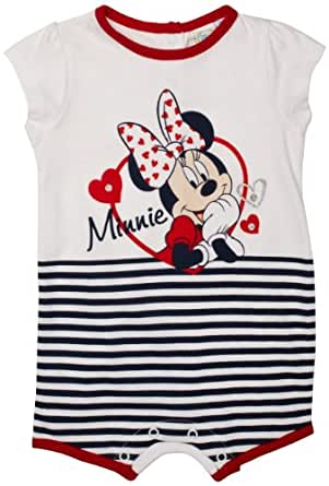 Minnie Mouse ME0139 Baby Girl's Body Optical White/Red/Blue Stripe 0-3 Months