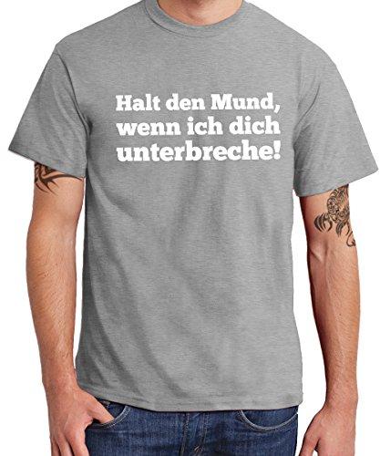 -- Halt den Mund! -- Boys T-Shirt Sports Grey