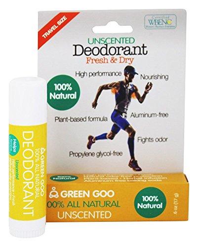Sierra Sage Green Goo 100% All Natural Deodorant Travel Stick-Unscented