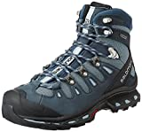 Salomon Quest 4d 2 GTX - Zapatos Mujer, Azul (Deep Blue/Stone Blue/Light Onix), 38 EU