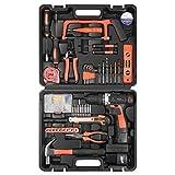 Kit di strumenti Letton con trapano a batteria da 16,8 V , 60 accessori Set di strumenti per kit di riparazione a batteria per uso domestico