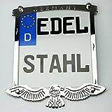 motomonster Exklusive Motorrad Kennzeichenhalter Edelstahl hochglanz poliert GERMANY custom