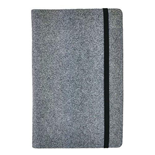 """handy-point 13,4-15,6 Zoll Organizer für Laptop Ultrabook MacBook Notebook Tasche aus Filz Filztasche Filzhülle Hülle Tablethülle Schutzhülle mit Kartenfach, Universell (13,4-15,6"""", Grau)"""